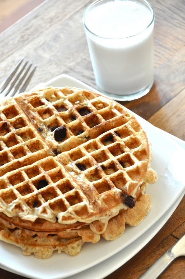 """<strong>Get the <a href=""""http://minimalistbaker.com/chocolate-chip-banana-bread-waffles/"""" target=""""_blank"""">Chocolate Chip Bana"""