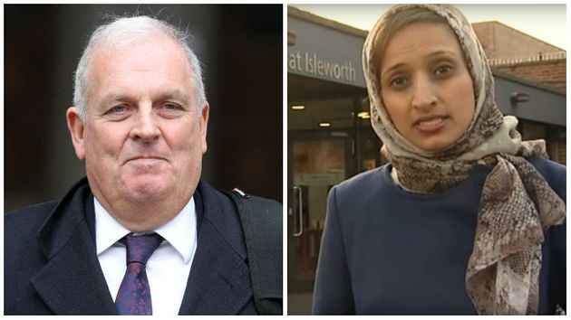 Kelvin MacKenzie (left) wrote that Fatima Manji (right) should not have hosted Channel 4 News because...