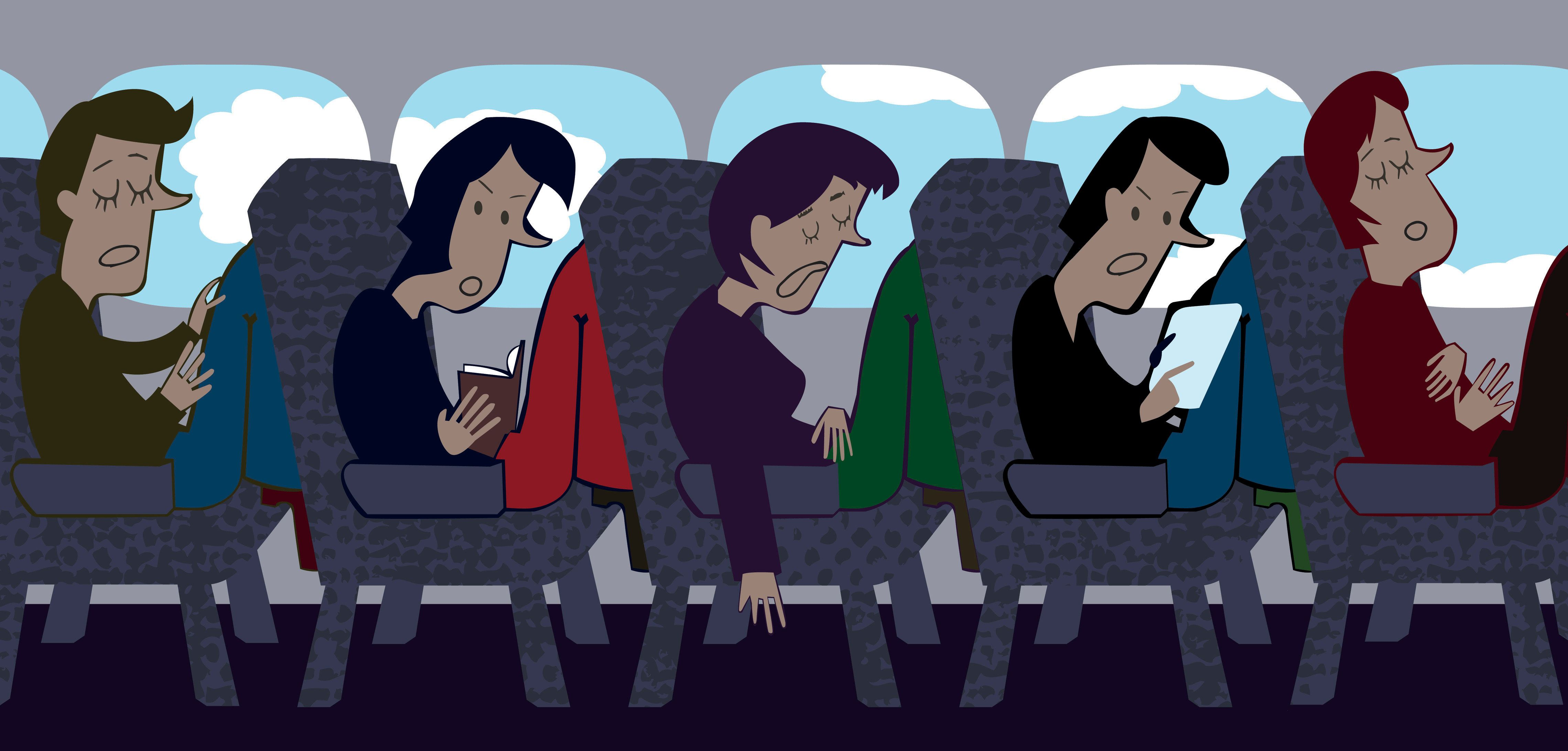 Incomfortables seats and insufficient space for your legs. Welcome to Squeezed Airline!