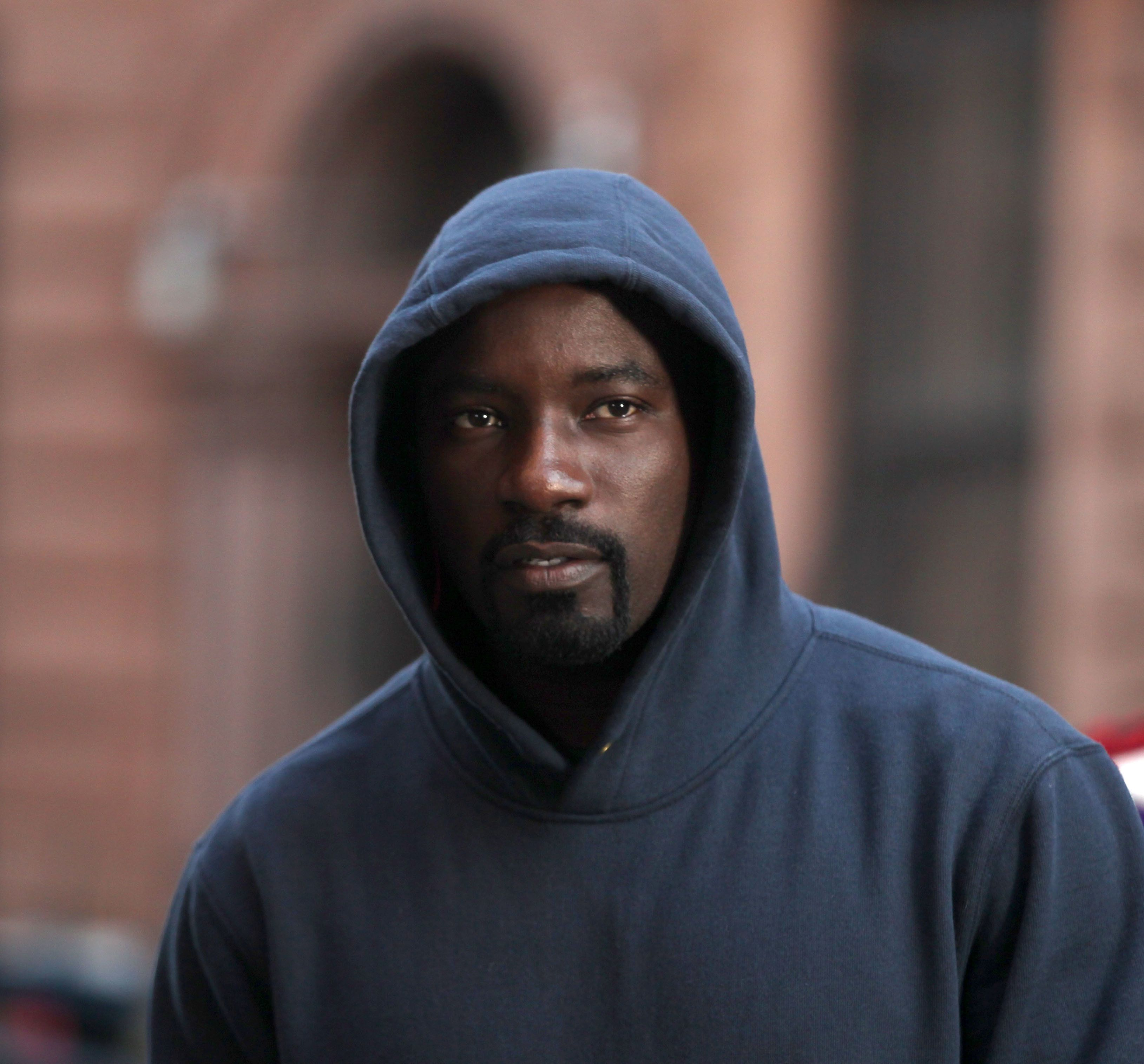 NEW YORK, NY - DECEMBER 02:  Mike Colter filming 'Marvel / Netflix's 'Luke Cage' on December 2, 2015 in New York City.  (Photo by Steve Sands/GC Images)