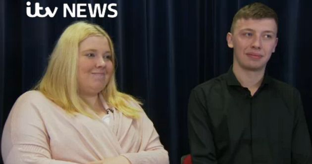 Amy Allen(left)and Edward Studley called their son a