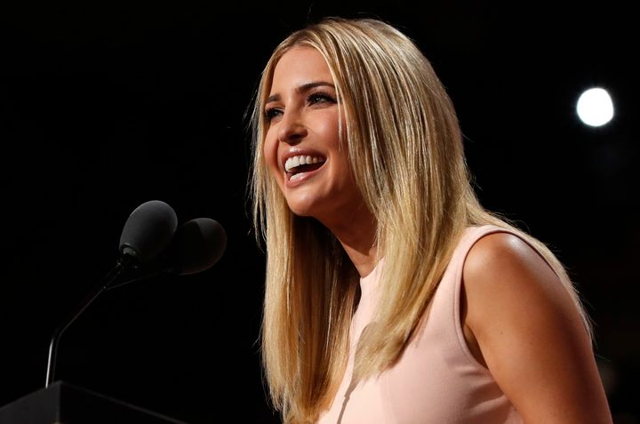 Ivanka Trump declared Thursday that her father would champion laws to advance equal pay, though Donald Trump hasn't
