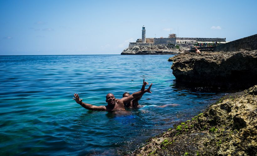 For some residents, pollution in Havana Bay is trumped bythe respite it offers on a hot summer day.