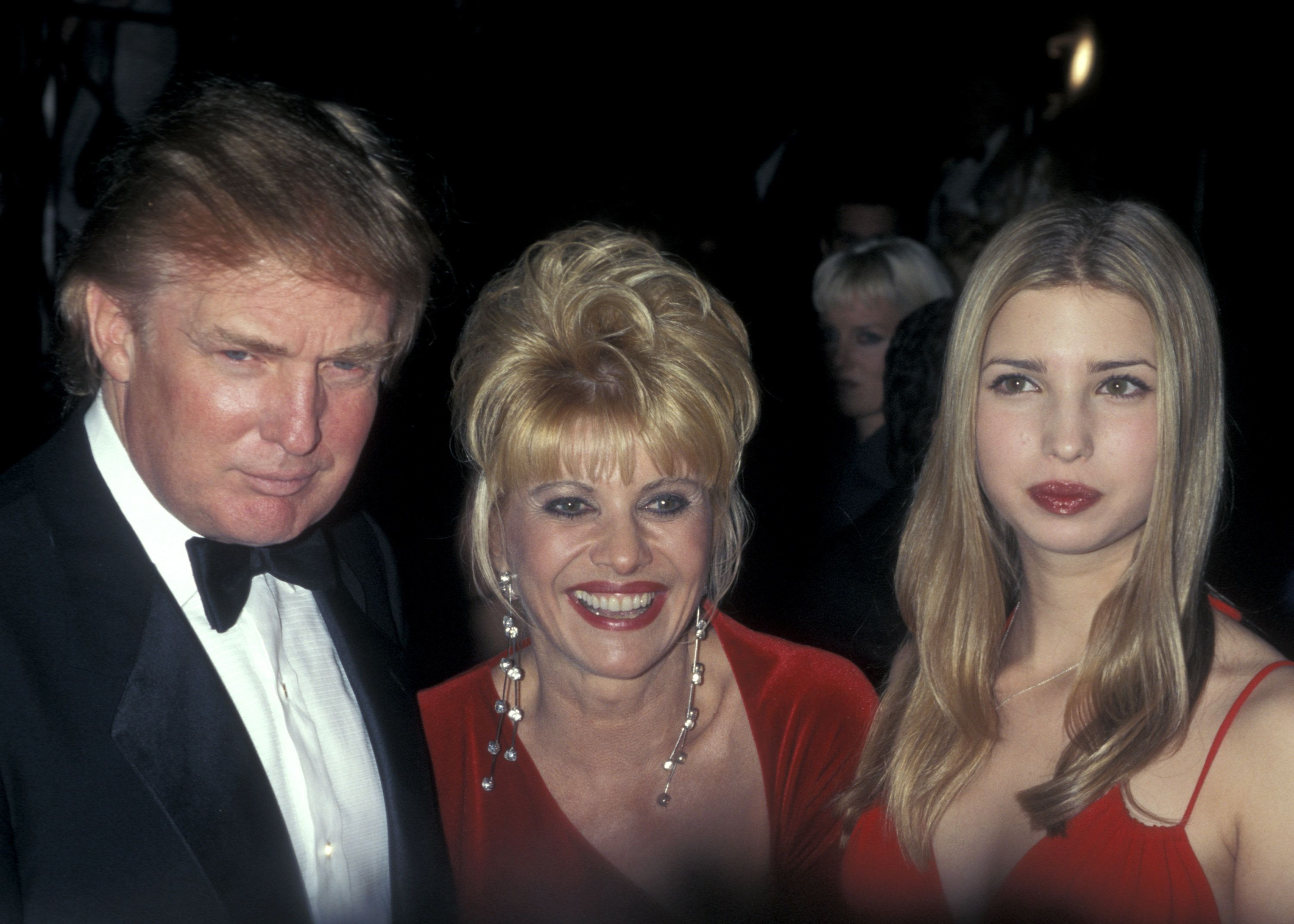 Donald Trump, Ivana Trump and daughter Ivanka years after the divorce.