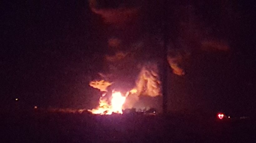 The fire at the WPX fracking site near Nageezi, NM burned for days.