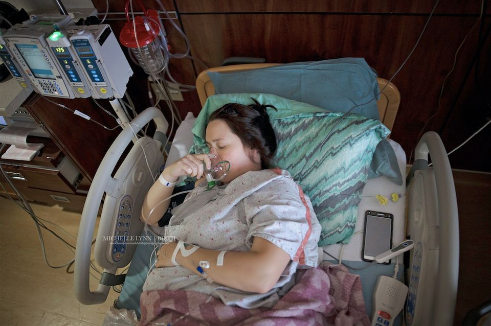 """This is someone's reality. A mother lying in a hospital bed laboring while her phone sits close by, ready to jump the second"