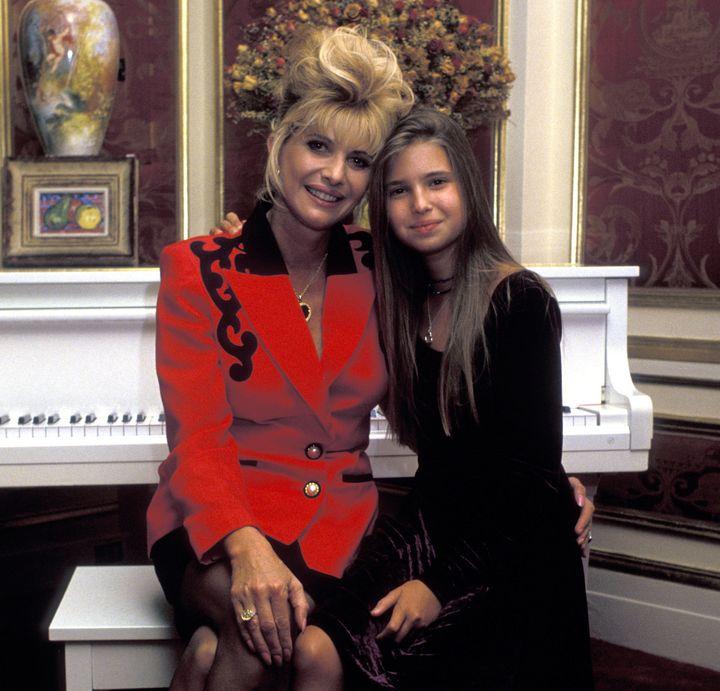 Ivanka and mom Ivana in1994.