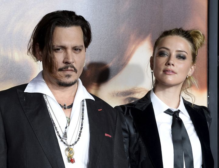 Johnny Depp and Amber Heard attend the premiere of 'The Danish Girl' in 2015.