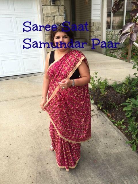Hot Pink Phulkari Saree