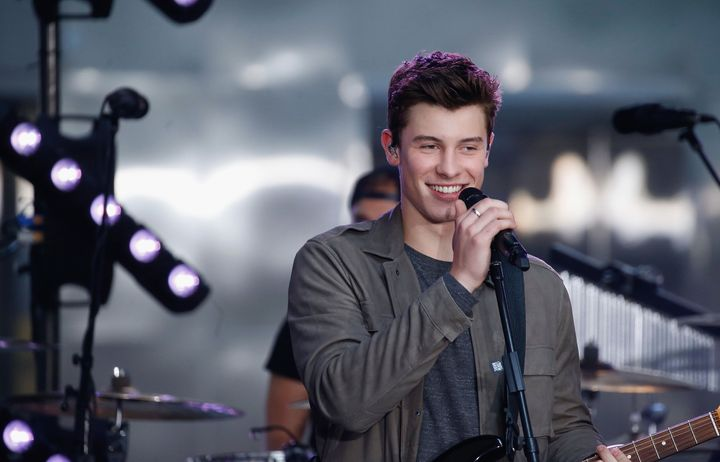 "Shawn Mendes performs on NBC's ""Today"" show at Rockefeller Plaza on July 8, 2016, in New York."