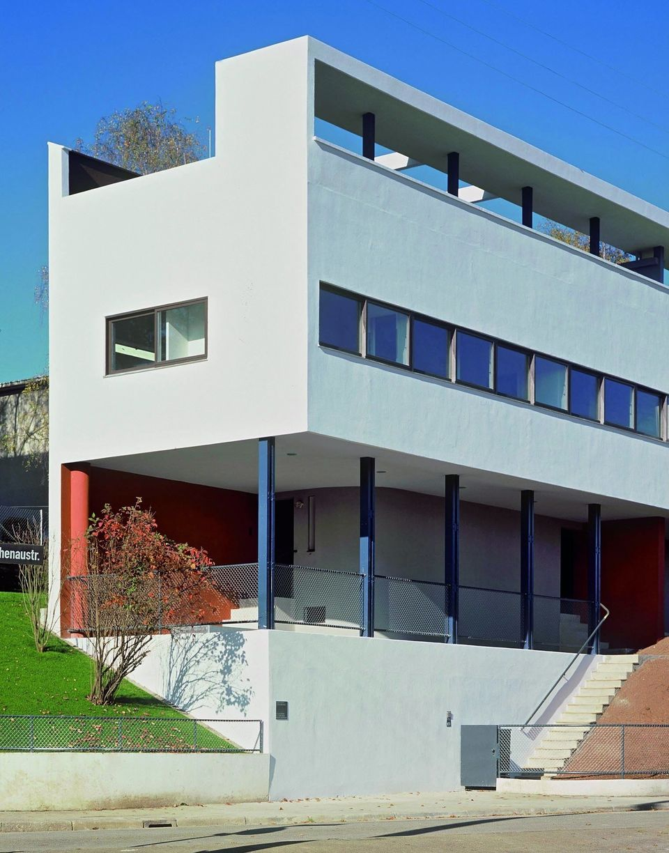 Le Corbusier designed two buildings on the Weissenhof estate in Stuttgart, Germany, in the late 1920s....