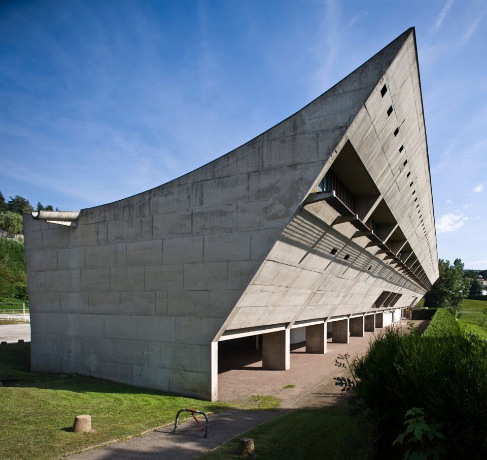 One of several buildings Le Corbusier designed in Firminy, a small industrial city in