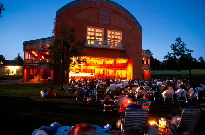 You can get tickets at Tanglewood to sit in The Shed, or picnic on the lawn.