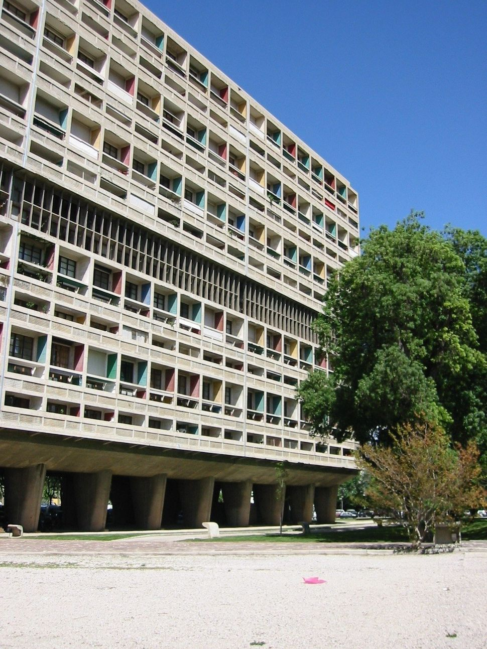 Unité d'Habitation, a housing project Le Corbusier built in Marseille, France, in 1945. The goal was to <a h