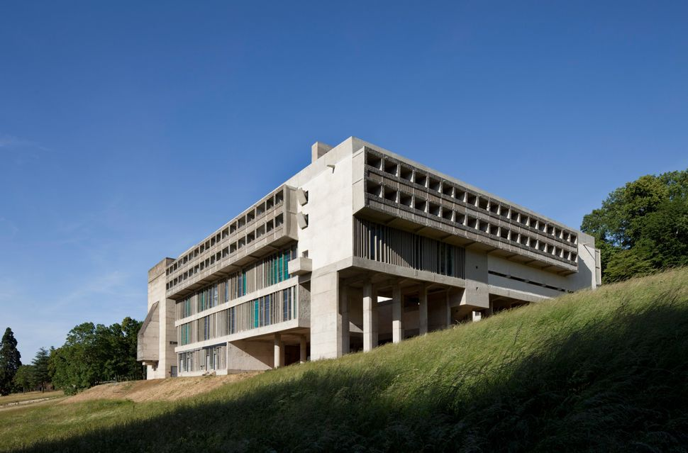 Le Corbusier built Sainte Marie de La Tourette, a convent, in a city near Lyon, France, in 1953.