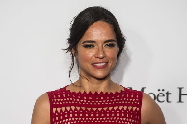 """Michelle Rodriguez has said her""""[first] time vote"""" is going to Clinton because """"she's a fighter.&rdqu"""