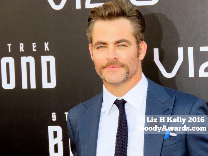 "Chris Pine (""Kirk"") beams his blue eyes at ""Star Trek Beyond"" World Premiere red carpet at San Diego Comic-Con 2016."