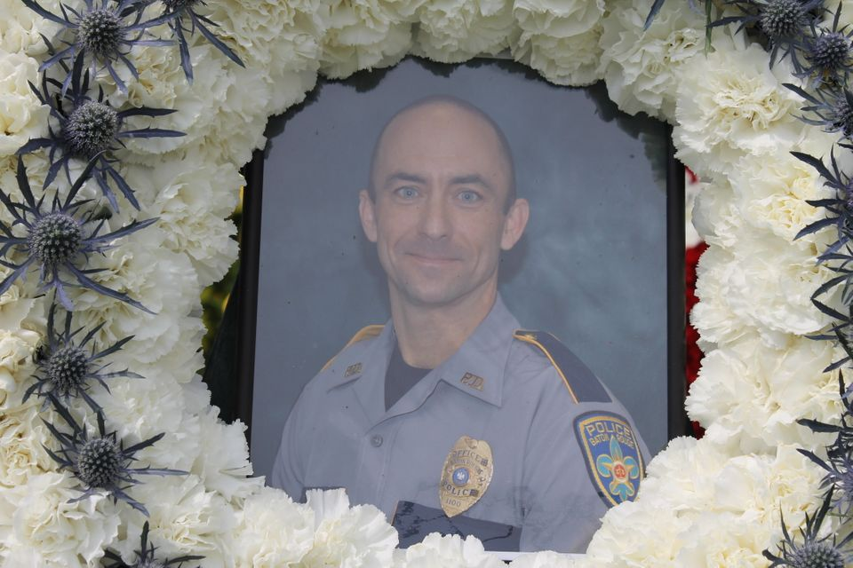 Funeral for slain Baton Rouge police officer Matthew Gerald.