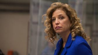 SAINT ANSELM COLLEGE, MANCHESTER, NEW HAMPSHIRE, UNITED STATES - 2015/12/19: Congresswoman and DNC Chair Debbie Wasserman-Schultz at the third Democratic presidential debate. (Photo by Luke William Pasley/Pacific Press/LightRocket via Getty Images)