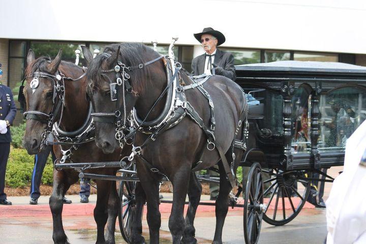 A Saturday funeral procession for slain East Baton Rouge Sheriff's Deputy Brad Garafola.