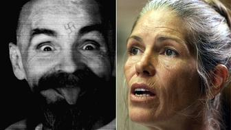 Charles Manson and former follower Leslie Van Houten