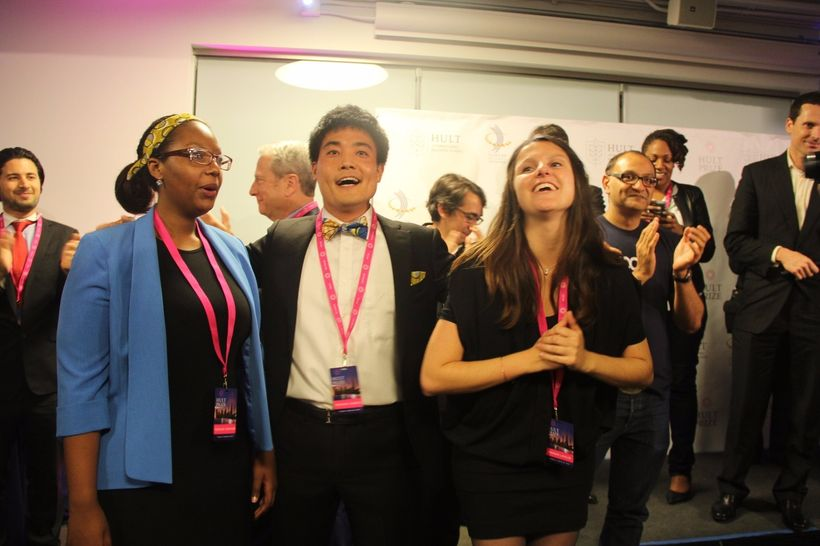 Musana Carts team after winning the regional of Hult Prize in San francisco in March 2016