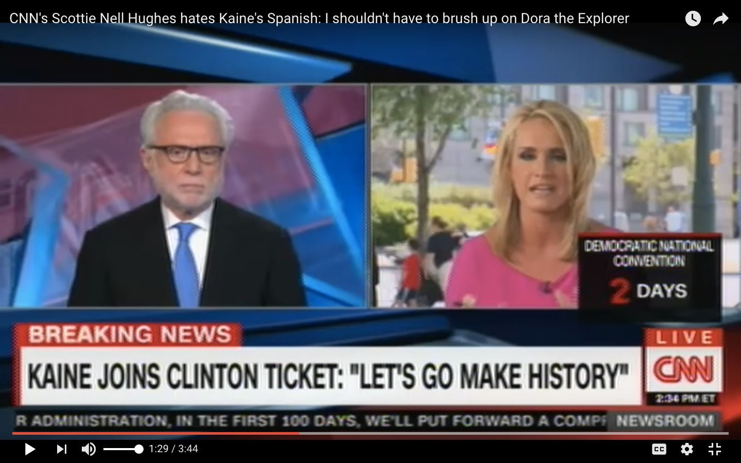 CNN political commentator and Donald Trump supporter Scottie Nell Hughes faced backlash after criticizing Sen. Tim Kaine for