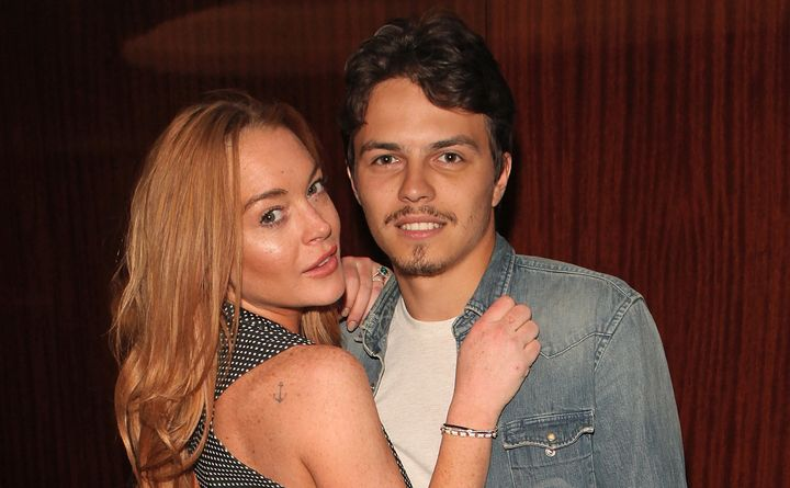"""Lindsay Lohan and Egor Tarabasov attend a private screening with Alice Temperley of Disney's """"Alice Through The Looking Glass"""
