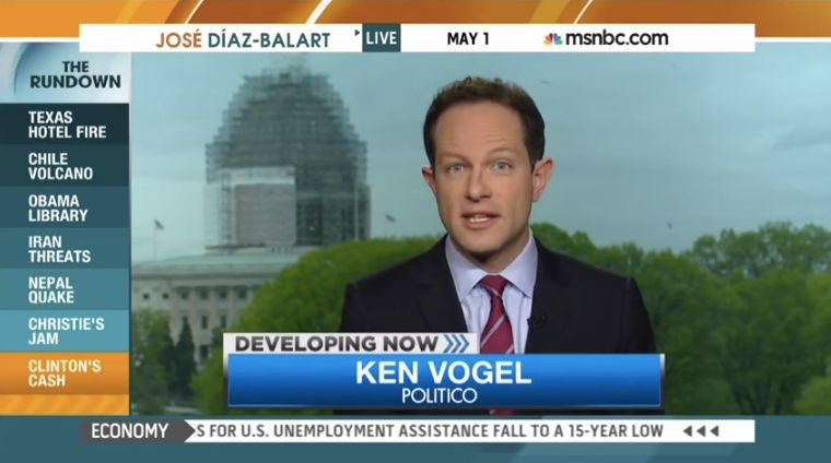 Politico says it was a mistake for reporter Ken Vogel to have sent the DNC an article in advance.