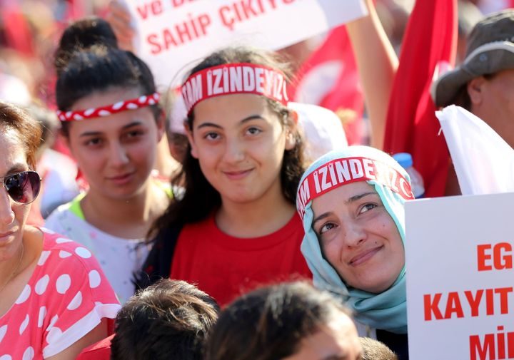 Thousands of Turksgather at Istanbul's iconic Taksim Square July 24 to express condemnation for the bloody coup attempt