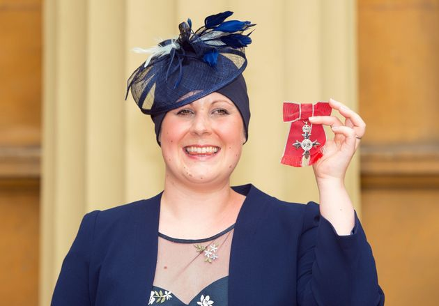 Dr Kate Granger after she was awarded an MBE at Buckingham Palace. She has died after a five-year cancer