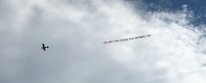"A ""Hillary for prison"" plane flew over downtown Philadelphia on Sunday."
