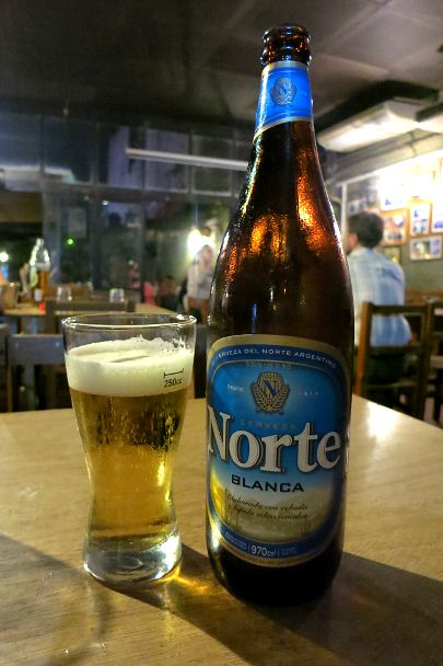 Norte beer, produced by Quilmes