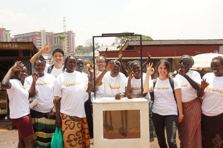 Musana Carts team in Kampala, Uganda, March 2016