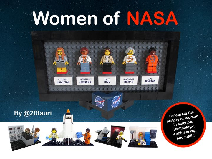 A science writer has proposed this new Lego set celebrating the women of NASA.