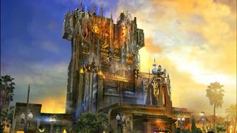 UNSPECIFIED - JULY 23: In this handout illustration provided by Disneyland Resort -- Guardians of the Galaxy - Mission: BREAKOUT! -- Debuting in summer 2017, Guardians of the Galaxy Mission: BREAKOUT! will take Disney California Adventure park guests through the fortress-like museum of the mysterious Collector, who is keeping his newest acquisitions, the Guardians of the Galaxy, as prisoners. Guests will board a gantry lift which launches them into a daring adventure as they join Rocket Raccoon in an attempt to set free his fellow Guardians. The new attraction will transform the structure currently housing 'The Twilight Zone Tower of Terror' into an epic new adventure, enhancing the breathtaking free fall sensation with new visual and audio effects to create a variety of ride experiences. Guests will experience multiple, random and unique ride profiles in which the rise and fall of the gantry lift rocks to the beat of music inspired by the film's popular soundtrack. (Illustration by Disneyland Resort via Getty Images)