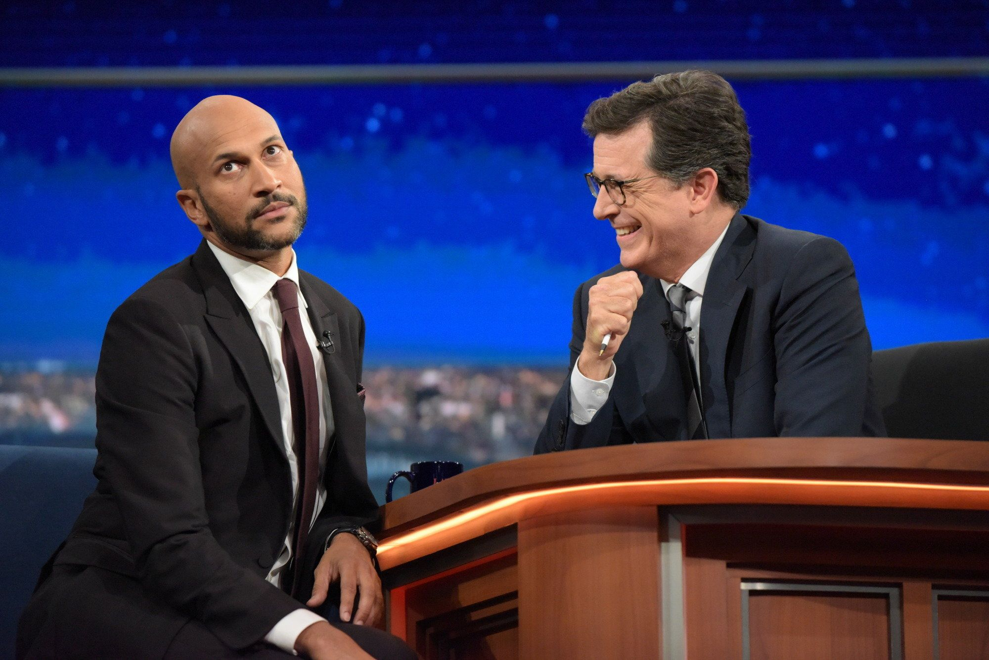 NEW YORK - JULY 19: The Late Show with Stephen Colbert airing live, Monday July 19, 2016 in New York. With  Keegan-Michael Key (Photo by Scott Kowalchyk/CBS via Getty Images)