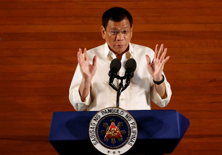 Human rights should not let criminals destroy the country, according to Philippines President Rodrigo Duterte, who has encour