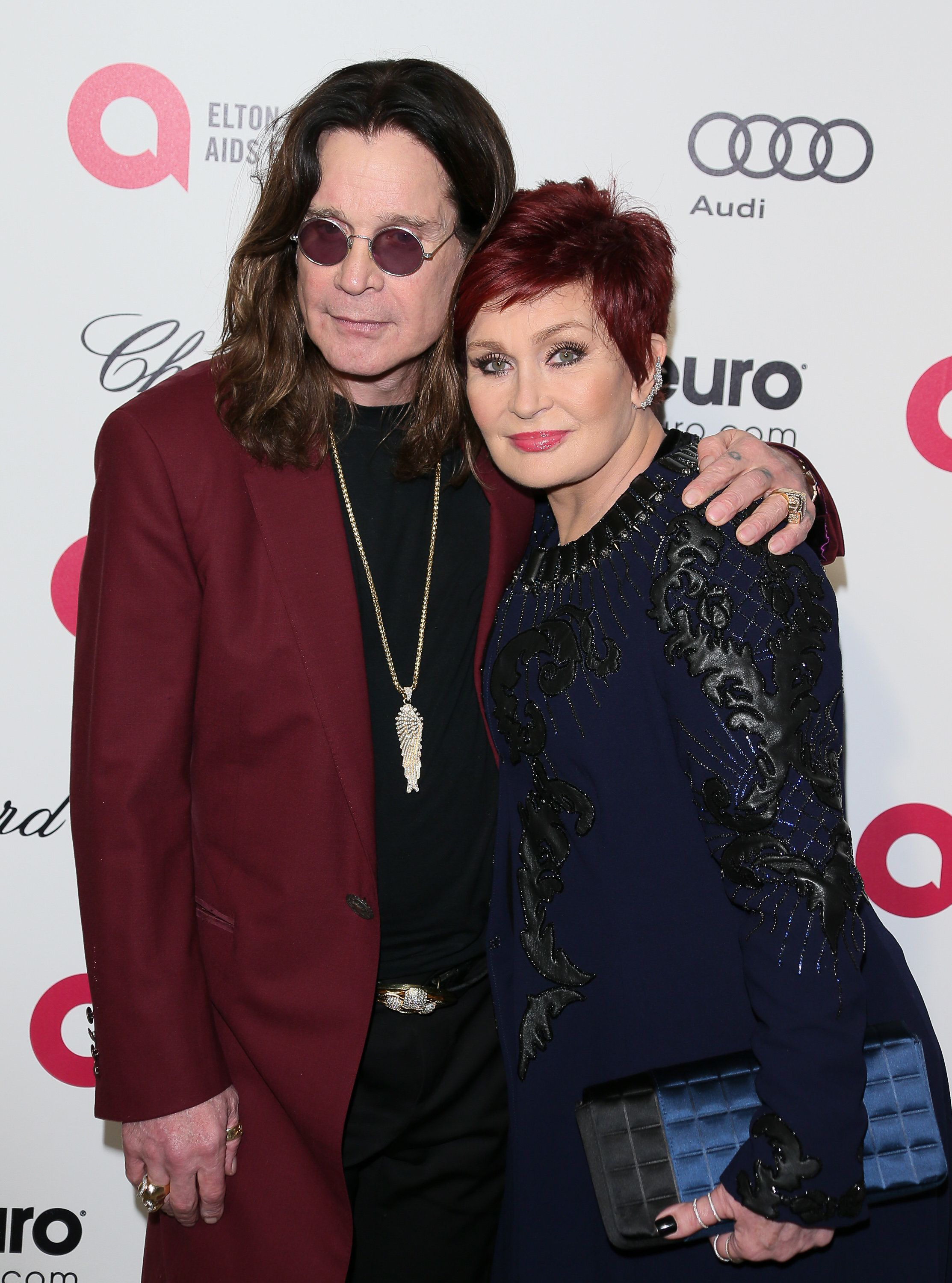 WEST HOLLYWOOD, CA - FEBRUARY 22: Ozzy Osbourne and Sharon Osbourne attend the 23rd Annual Elton John AIDS Foundation Academy Awards Viewing Party on February 22, 2015 in West Hollywood, California.(Photo by JB Lacroix/WireImage)