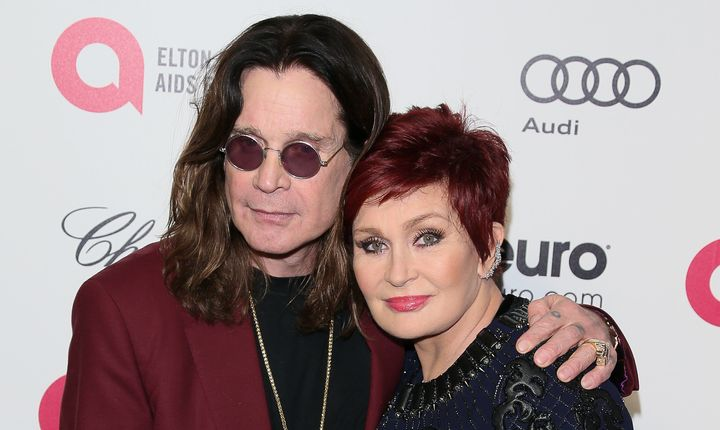 Ozzy Osbourne and Sharon Osbourne on Feb. 22, 2015, in West Hollywood, California.