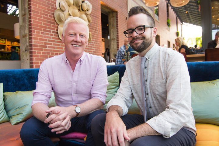 """David Bowd (left) and Kevin O'Shea of Salt Hotels say their philosophy for the Asbury Hotel is """"anything goes."""""""