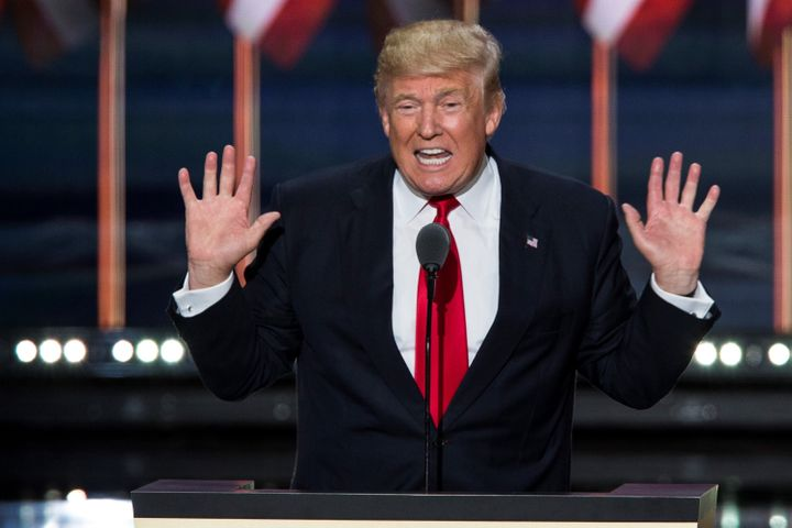 Donald Trump at the Republican National Convention in Cleveland on July 21, 2016.