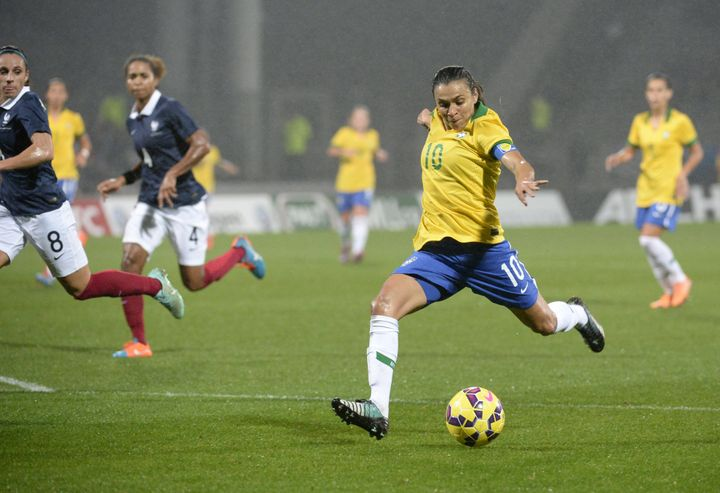 Brazilian legend Marta dreams of the day when female stars will be as recognized as the likes of Neymar.