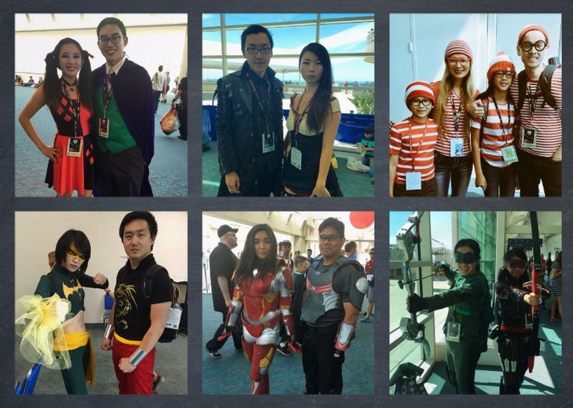 Asian American cosplayers at San Diego Comic-Con.