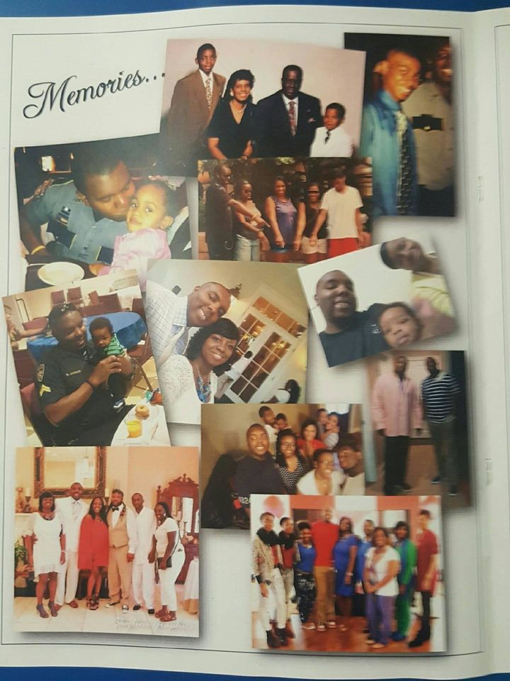 A page from the program for Montrell Jackson's memorial service.