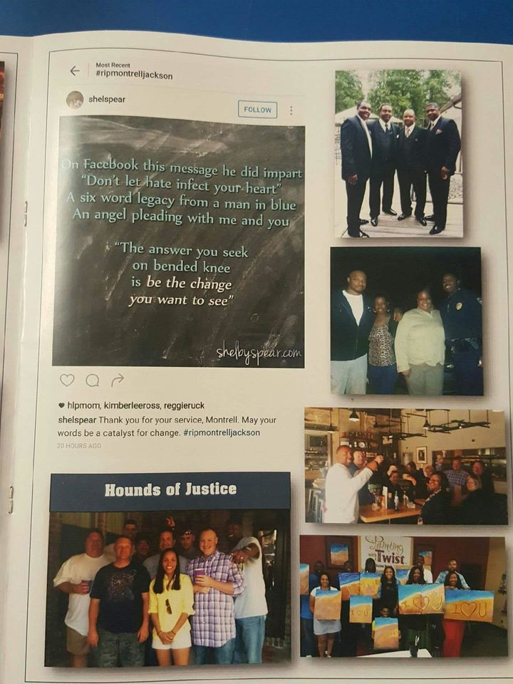 Montrell Jackson's friends and family remember him in the program for his memorial service.