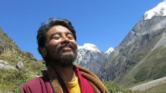 Mingyur Rinpoche during his wandering retreat