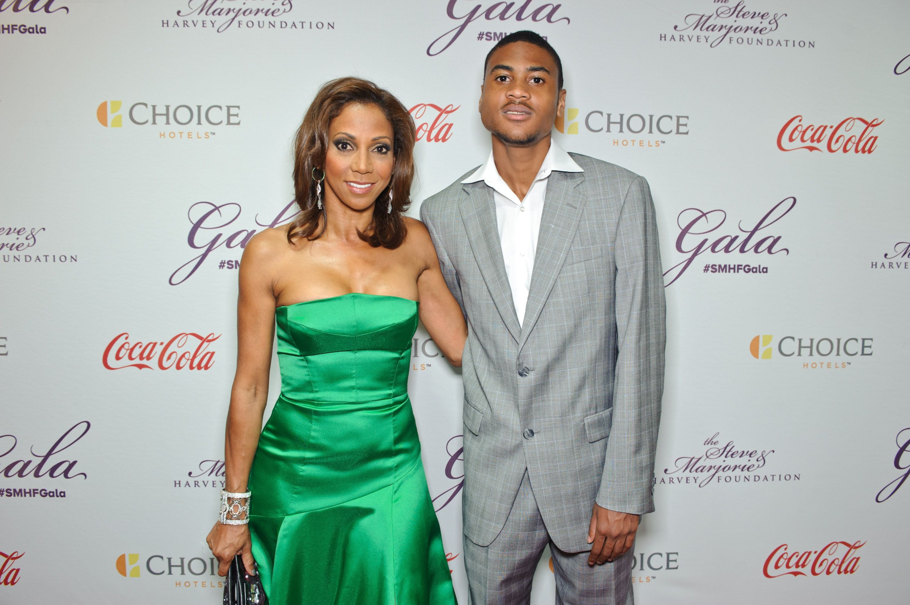 CHICAGO, IL - MAY 16:  Holly Robinson Peete and son R.J. attend the Steve & Marjorie Harvey Foundation Gala on May 16, 2015 in Chicago, Illinois.  (Photo by Timothy Hiatt/Getty Images for Steve & Marjorie Harvey Foundation)