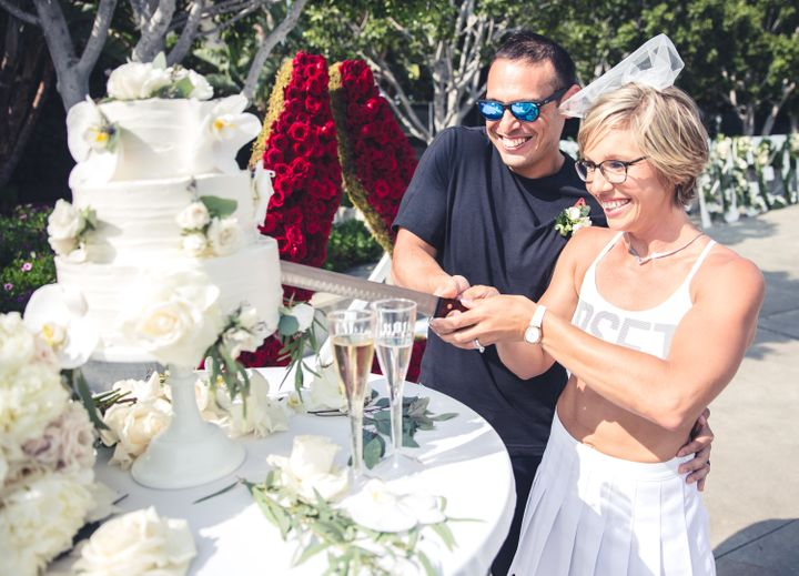 The wedding cake was paleo -- what did you expect?