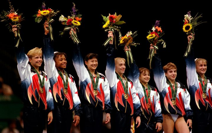 Those uniforms! Those scrunchies! Those gold medals!
